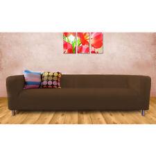 Housses de canapé, fauteuil, et salon marron pour la chambre