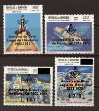 HONDURAS 1972, MASONIC GRAND LODGE OVERPRINT ON SPACE, Scott C501-C504, MNH