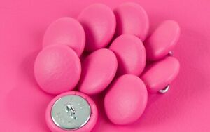 10 Upholstery buttons in Pink Faux leather 20mm