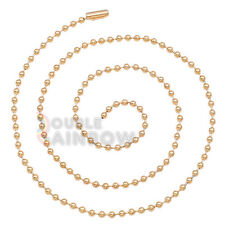"""C21 20-30""""Men stainless steel Gold Silver Black ball bead id necklace chain link"""