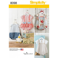 Simplicity Sewing Pattern 8098 Babies' Rompers Sandals and Stuffed Duck