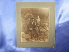 ANTIQUE 1875+ BOY w US ARMY INFANTRY HAT BELT & SABER CABINET PHOTO 8TH INF CO B