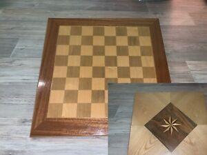 Antikes Schachbrett Aus Holz für Schachspiel Top Zustand
