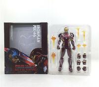 Anime Super Hero Captain America Civil War Iron Man MK-46 Action Figure In Box