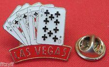 Las Vegas Cards Gambler Lapel Hat Cap Tie Pin Badge Brooch Poker