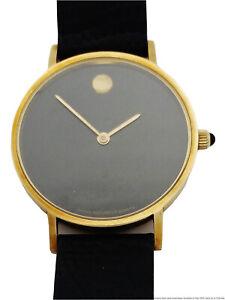 Vintage 14k Gold Movado Museum Mens Unisex Wrist Watch to Fix