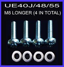 M8 30MM LONG SAMSUNG UE40J/48/55 WALL MOUNT VESA BRACKET FITS OTHER MAKES OF TVS