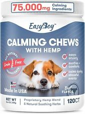 EasyBoy Calming Treats for Dogs - Dog Anxiety Relief for Travel Fireworks 120ct
