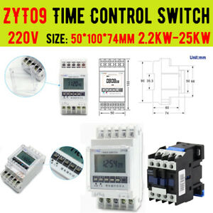220V ZYT09 Time Switch Time Delay Relay Multifunction Timer Relay & Contactor