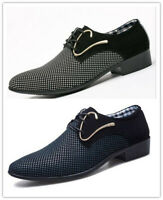 New Men Business Dress Formal Shoes Fashion Oxfords Loafers Lace Up Pointy Toe