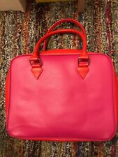 Lancome Train Case  Make Up Cosmetics Bag Pink & Red