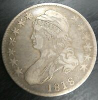 1818 Capped Bust Half Dollar - Ch Fine/VF Very Fine Old Cleaning/Retoned