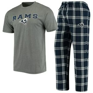 Los Angeles Rams Pajama Set by Concept Sports - Adult Size 2X