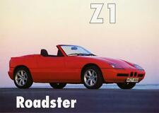 Old Print.  Red 1990 BMW Z1 Roadster Automobile Ad