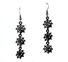 3 Hanging Spider Web Cobweb Earrings Goth Jewelry Punk Witch Vampire Alternative