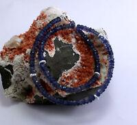 Iolith (Wasser Saphir) Kette Edelsteinekette Facettierte Saphirblau Collier 46cm