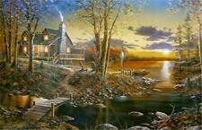 Comforts of Home  Cabin Lake Print By Jim Hansel  12 x 7.75