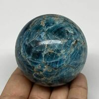 "337.2g, 2.3"" (59mm) Blue Apatite Sphere Ball Gemstone Healing Reiki, B6277"