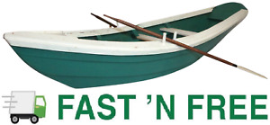 """Vintage 35.25"""" Wooden Authentic Dory/Row Boat Replica with Oars ~1970s Vintage~"""