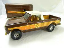 Vintage Ertl International IH Scout Terra Pickup Brown Truck Horse Trailer Set