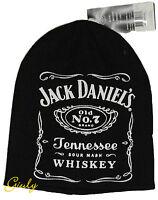 ZUCCOTTO  JACK DANIEL'S Cappello Cuffia inverno nero idea regalo   tg. unica