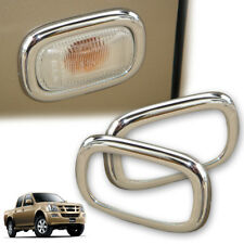 For 2002-2006 Isuzu Colorado D-max Ute D-Max Holden Side Lamp Trian cover Chrome