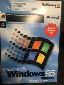 Windows 95 Operating System Upgrade 3.5 13 Floppy Disks Installation & Box VINTG