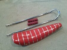 """RED SPARKLE Bicycle BANANA SEAT SISSY BAR Grips Included 20""""STINGRAYS KRATES"""