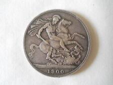 1900 Victoria Silver Crown British Coins