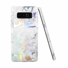 Note 8 Case, Galaxy Note 8 Case, JIAXIUFEN Shiny Change Color White Ma