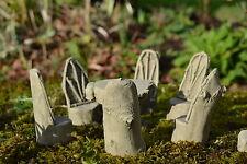 Fairy Garden Miniature Table & 6 Chairs-Garden Ornament-Sculpture-Gift-Stone