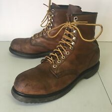 Red Wing Mens 9.5 B Brown Leather Steel Toe Work Boots ANSI Z41 PT91 M1/75 C/750