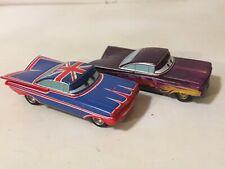 Disney Store Pixar Cars Lot 1:43 Diecast Ramone UK Union Jack Purple Flames