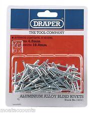 Draper Pot Rivets [14011] Pack of 50 ,  4.8mm x 10mm Blind Rivets