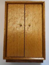 Armoire bois maison de poupées meubles TBE
