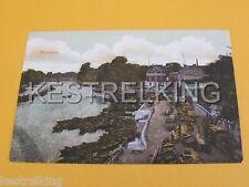 Richmond Boat yard South west London GB Postcard
