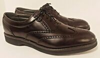 Mens 8.5 M Dexter Blk Leather Brogue Shoes Wingtip Dress Oxfords USA Made Dress