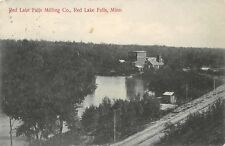 Red Lake Falls MN Railroad Line by Milling Co~Tom Wrote Me A Funny Letter 1909