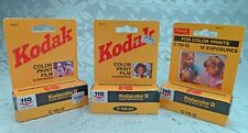 Lot of 3 Kodak Kodacolor II Color Negative Film C 110-12 & C 110 24 New in Box