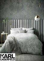 Karl Lagerfeld Designer KALLIE 100% Cotton Sateen 220 Thread Count Bedding Grey
