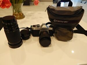 Asahi Pentax K-1000 SLR Camera with 2 Lens, tele converter -- Tested!!