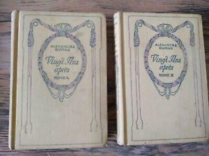 ALEXANDRE DUMAS Vingt ans après tome 1 et 2 édition Nelson