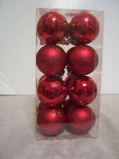 16 Red Shatter Resistent Valentines Ornament Decoration