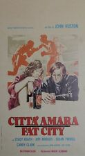 """""""LA DERNIERE CHANCE (FAT CITY)"""" Affiche italienne originale entoilée John HUSTON"""