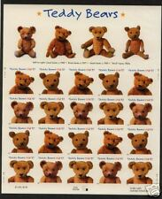 2002 #3653-3656 Teddy Bears Full Pane Mint (sealed)