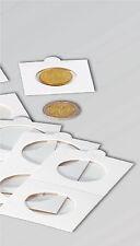 """50 non adhésive 2 """"x2"""" détenteurs de monnaie, 32,5 mm-la moitié de la couronne"""
