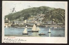 Postcard Barmouth, ENGLAND Seaport Shoreline Houses view 1904