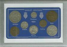 1931 GB Moneda Gran Bretaña Británica Vintage Set (87th Cumpleaños Regalo Nacimiento Año)