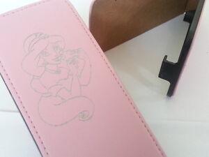 Samsung Galaxy Note 4 PRINCESS JASMIN LEATHER pink flip phone case aladdin four