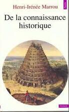 H.-E. MARROU - DE LA CONNAISSANCE HISTORIQUE - Livre de poche